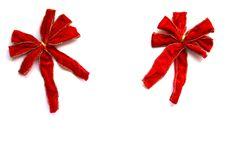 Free Velvet Christmas Bows Stock Photos - 9915543