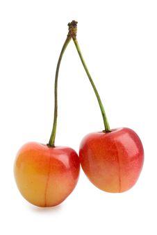Two Cherrys Royalty Free Stock Photos