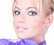Free Beautiful Blondy With Scarf Royalty Free Stock Images - 9915679