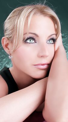 Free Close-up Portrait Of A Beautiful Blondy Woman Royalty Free Stock Photography - 9915697