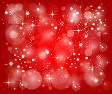 Free Red Christmas Background With Stars Stock Photos - 9917243
