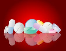 Free Pharmacy - Colorful Pills Royalty Free Stock Photography - 9917267