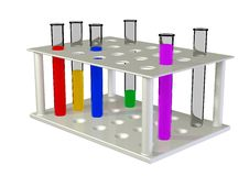 Free Test Tubes With Chemical Reactants Of Various Colo Royalty Free Stock Photo - 9917365