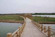 Free Bridge And Long Corridor Royalty Free Stock Image - 9917366