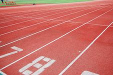 Free The Running Track Royalty Free Stock Photography - 9917367