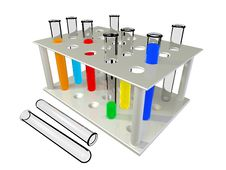 Free Test Tubes With Chemical Reactants Of Various Colo Royalty Free Stock Photos - 9917378