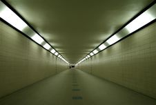 Free Empty Subway Below Train Station. Stock Images - 9917654