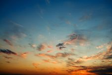 Free Bright Glowing Sunset Stock Photo - 9918530