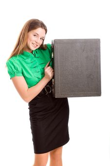 Free Woman And Attache Case Stock Photography - 9919112