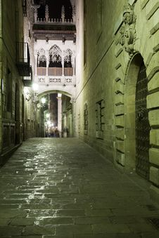 Free Night Gothic Quarter Royalty Free Stock Photography - 9919647