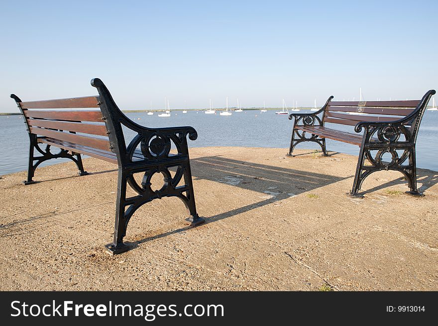 Seaside benches