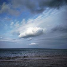 Free Open Sea And Clouds Royalty Free Stock Image - 99110436