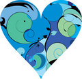 Free Blue Beautiful Decorative Heart Royalty Free Stock Image - 9921156