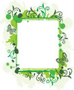 Free Grunge Floral Frame Royalty Free Stock Photography - 9921417