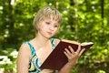 Free Girl Reading Book Stock Photos - 9922873
