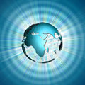 Free World In Rays Stock Image - 9927561