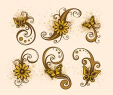 Free Floral Design Element Royalty Free Stock Image - 9920106