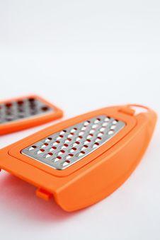 Orange Plastic Grater Stock Photos