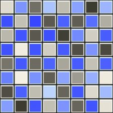 Blue And Grey Tile Pattern Stock Photo