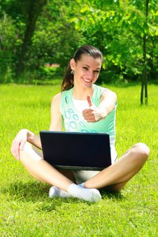 Free Young Woman On A Nature Stock Photography - 9920582