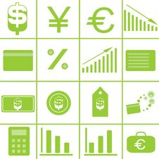 Set Vector Icons Stock Image