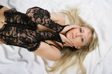 Free Beautiful Blonde Sex In Bed Royalty Free Stock Photography - 9921717