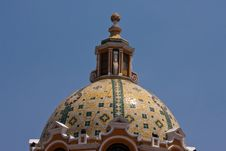 Free Cholula Church Dome Royalty Free Stock Image - 9922376