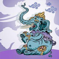 Free A Brave Elephant King Royalty Free Stock Photos - 9923838