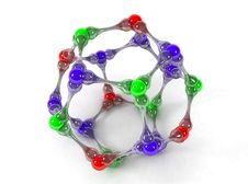 Free Molecule_2 3d Royalty Free Stock Photography - 9924397