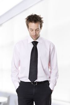 Businessman Standing With Hands In Pocket Royalty Free Stock Photo