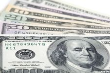 US Dollar Banknotes Stock Images
