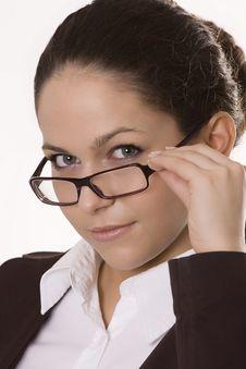 Free Beautiful Woman Wearing Glasses Stock Photo - 9925470