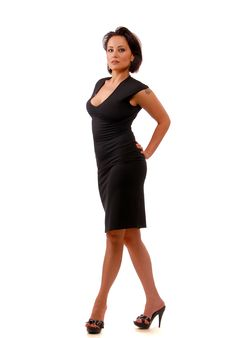 Free Lady In Black Royalty Free Stock Photos - 9925628