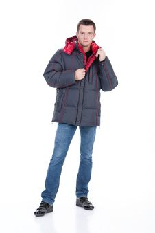 Free Young Man In Winter Down Clothes Royalty Free Stock Photography - 9925897