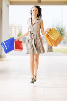 Free Woman And Shopping Royalty Free Stock Photography - 9926247