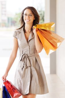 Free Woman And Shopping Stock Image - 9926391