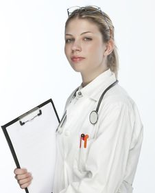 Free Beautiful Young Doctor Royalty Free Stock Image - 9926636