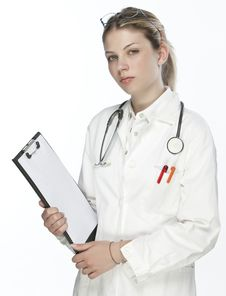 Free Beautiful Young Doctor Stock Photography - 9926782