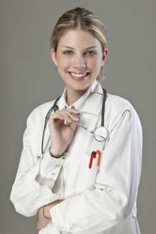Free Beautiful Young Doctor Stock Photo - 9927050