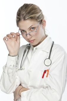 Free Beautiful Young Doctor Royalty Free Stock Image - 9927086