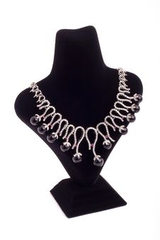 Free Necklace With Black Pearls Stock Image - 9927191