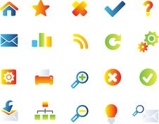Free Vector Icons Set Royalty Free Stock Images - 9927229