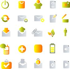 Free Vector Icons Set Stock Image - 9927231