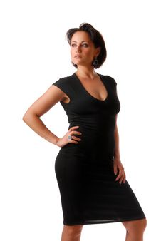 Free Lady In Black Royalty Free Stock Photography - 9927397