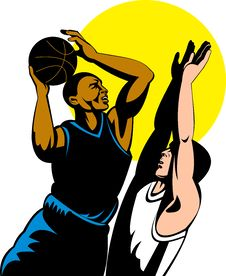 Free Basketball Player With Abll Royalty Free Stock Photography - 9927427
