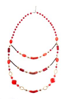 Free Red Gem Necklace Royalty Free Stock Photos - 9927548