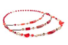Free Red Gem Necklace Stock Photography - 9927552
