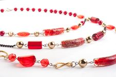 Free Red Gem Necklace Closeup Royalty Free Stock Photography - 9927557