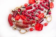 Free Red Gem Necklace Royalty Free Stock Image - 9927566