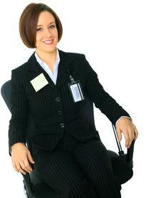 Free Relaxed Businesswoman Sit On Chair Royalty Free Stock Photo - 9927715